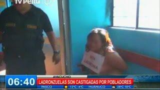 Ladronzuelas fueron castigadas por comerciantes de Ayacucho