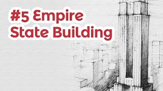 Empire State Building Perspective Drawing 5