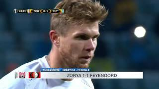 Video Gol Pertandingan Zorya FC vs Feyenoord