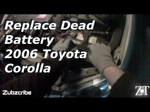 2006 toyota corolla replace car battery diy youtube. Black Bedroom Furniture Sets. Home Design Ideas