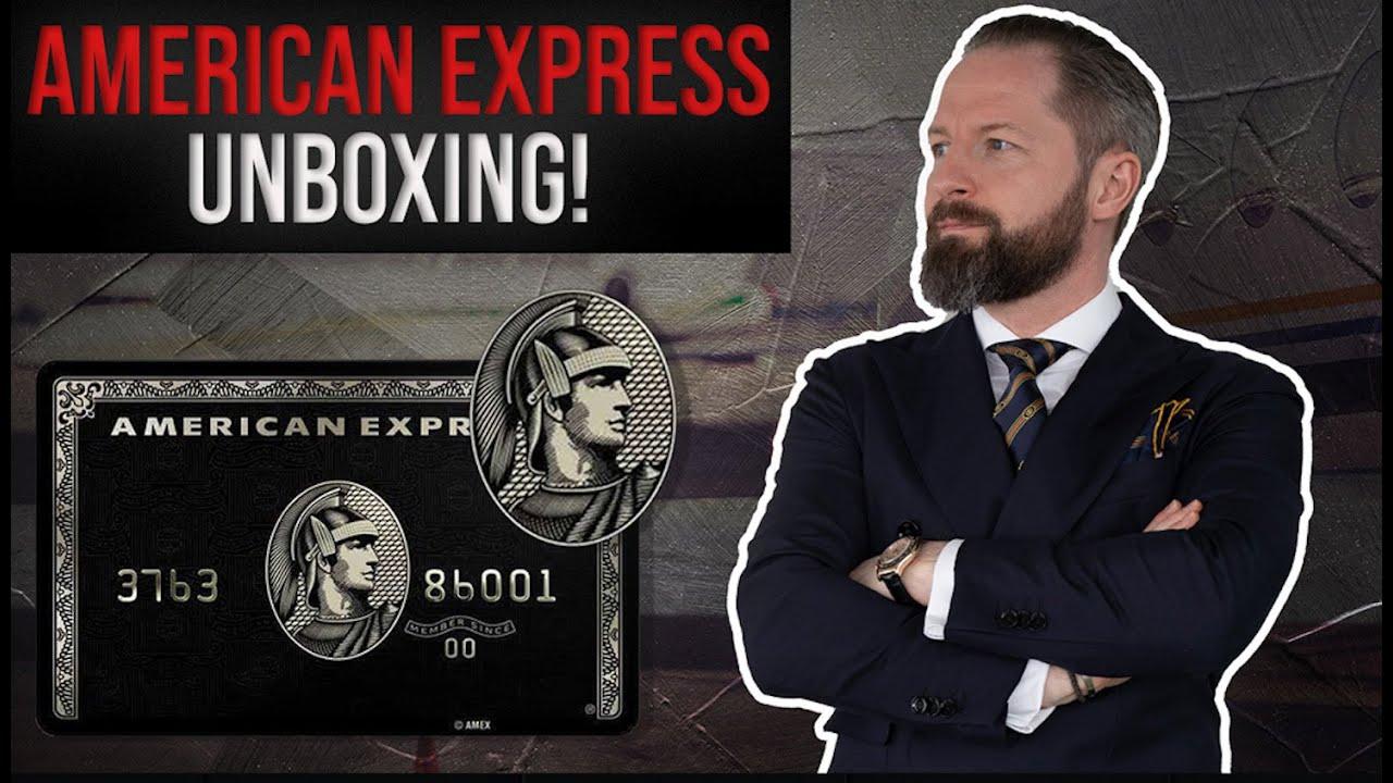 Download Unboxing: Die neue AMEX BLACK Centurion Kreditkarte!