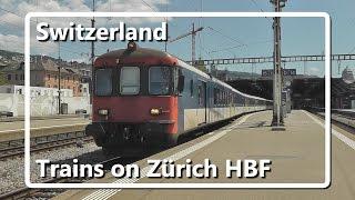 Trains on Zürich Hauptbahnhof // Swiss Train Compilation