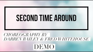 SECOND TIME AROUND line dance demo, choreography by Darren Bailey & Fred Whitehouse