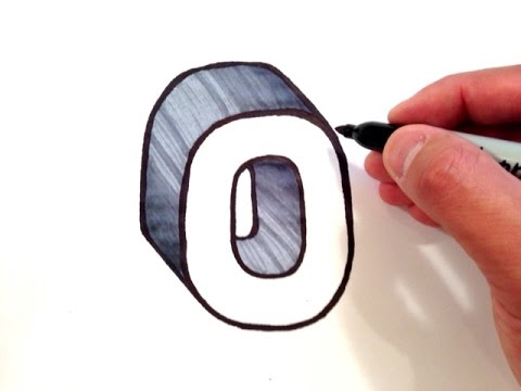How To Draw The Letter O In 3d Youtube