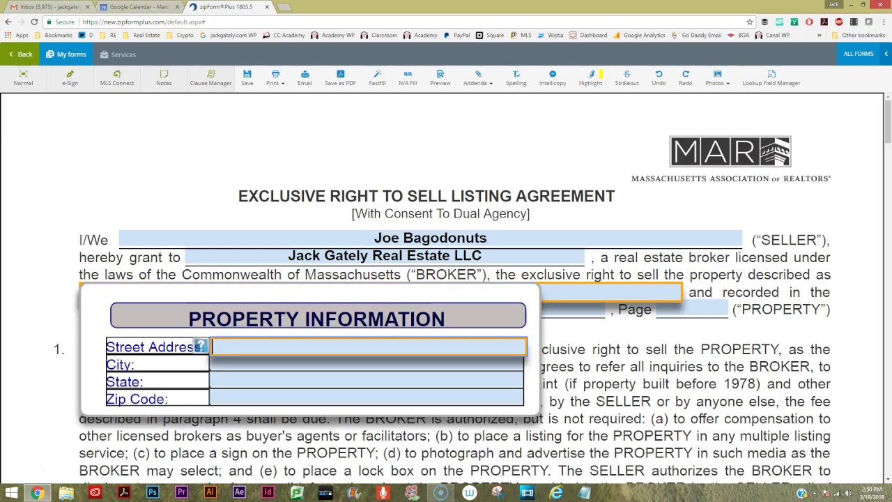How To Fill Out A Basic Listing Agreement Youtube