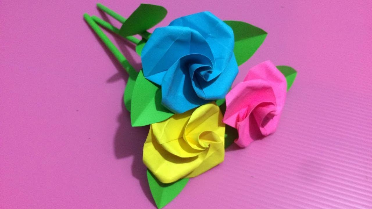 How to make small rose flower with paper making paper flowers step how to make small rose flower with paper making paper flowers step by step diy paper crafts mightylinksfo