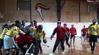Bench-clearing Ball Hockey Fights - Ball Hockey Brawls - Bench Clear Bench Clearing (raw)