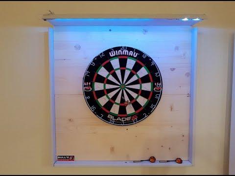 Profi Dartboard  Scheibe und Surround selber bauen mit LED Beleuchtung | Winmau Dartboard unter 50€