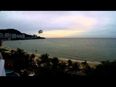 Penang, Malaysia - Flamingo By The Beach Hotel Evening Seaview