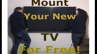 How to Mount your Big Screen TV Without Paying a Dime!
