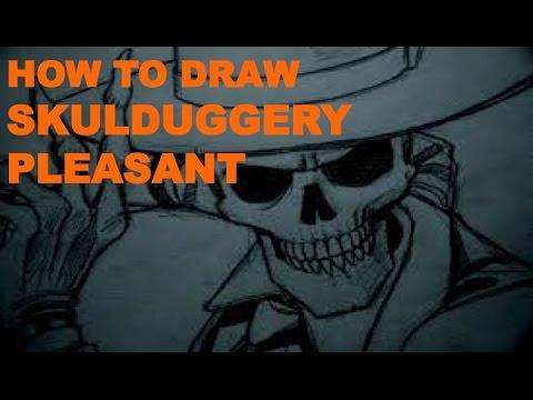 How To Draw Skulduggery Pleasant