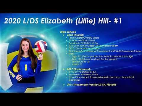Elizabeth (Lillie) Hill 2020 L/DS #1; 1st Team All-District 26-6A