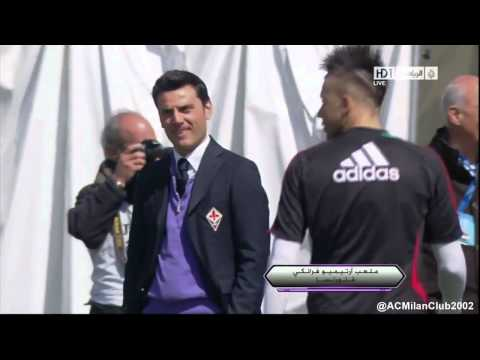 Mario Balotelli fake shot at Fiorentina boss Vincenzo Montella