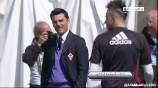 Mario Balotelli fake shot at Fiorentina boss Vincenzo Montella