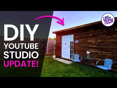 DIY Wooden Pallet Garden Office / YouTube Studio UPDATE!! | Pallet Shed