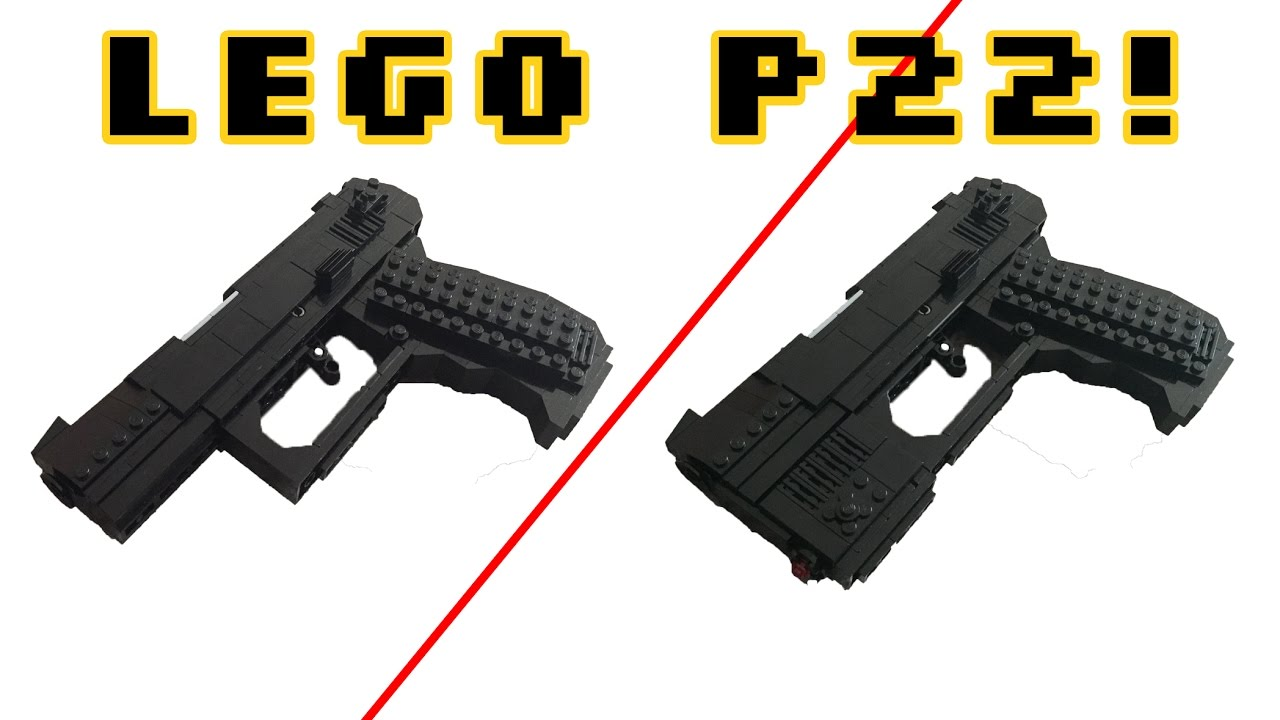 LEGO WALTHER P22 W/WORKING TRIGGER/LASER SIGHT!