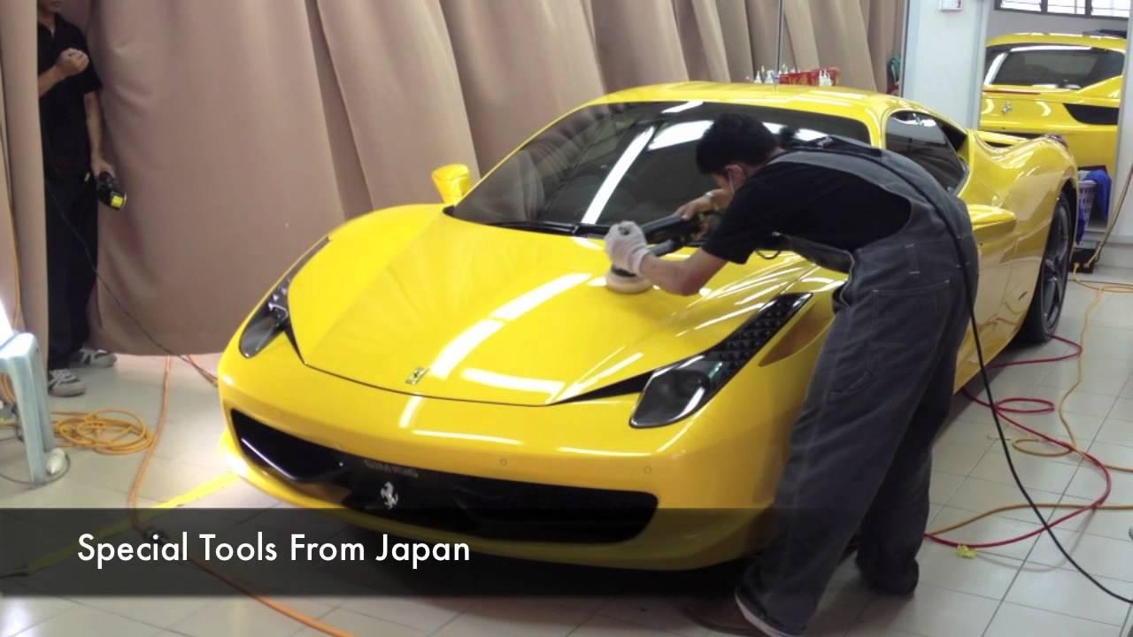G Guard Car Polish, Detailing And Coating Malaysia ( Ferrari F458 Italia )    YouTube