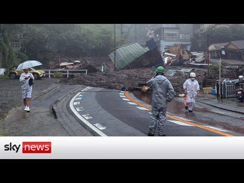 20 Missing As Powerful Mudslide Sweeps Through Japan Town