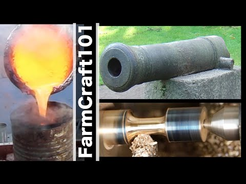 How NOT To Cast A Historic Bronze Cannon Barrel.  FarmCraft101