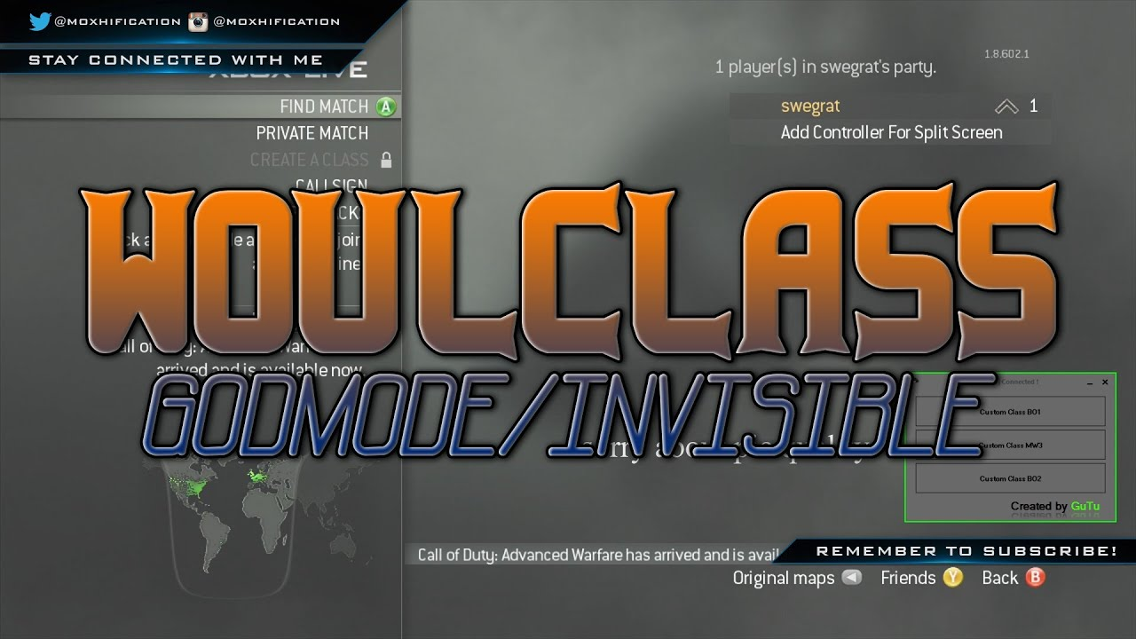 MW3 | TU23 | WoulClass God Mode & Invisible Classes | +Download