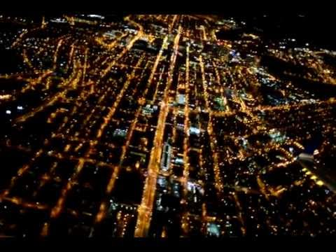 Landing at night in Richmond VA | birds eye of Richmond at ...