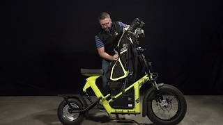 How to load a golf bag on the Finn Scooter