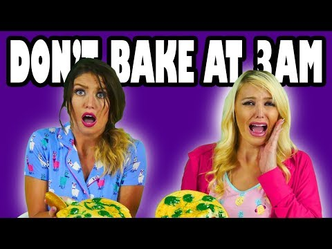 Do Not Bake At 3AM Challenge. What Happens When We Bake a Cake at 3 am? Totally TV