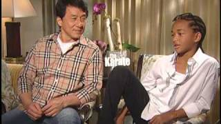Jackie Chan & Jaden Smith The Karate Kid Interview
