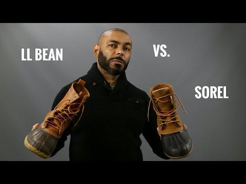 258d71d8e37 LL Bean Boots Vs. Sorel Cheyanne II Boot/Best Men's Rain/Duck Boot ...