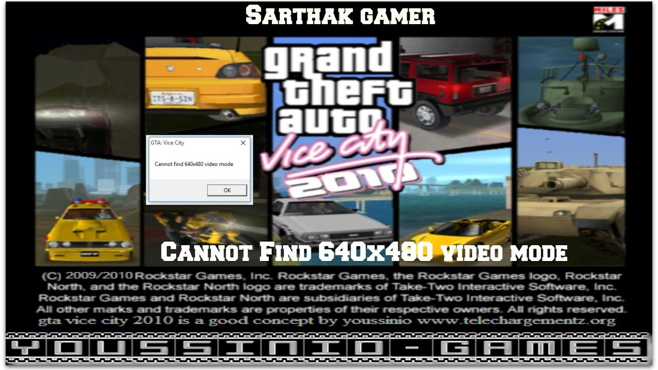 "Here's How to Fix ""Can't Find 640×480 Video Mode"" for GTA Vice City!"