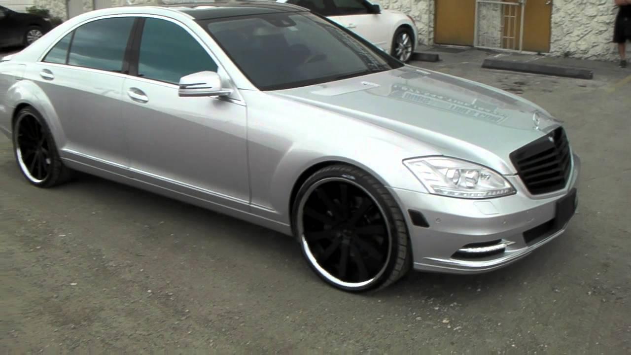 Dubsandtires Com 22 Inch Gianelle Santos 2ss Black Chrome Lip Wheels 2010 Mercedes S 550 Rims