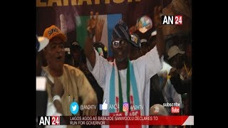 LAGOS STANDS STILL AS BABAJIDE SANWO-OLU OFFICIALLY DECLARES FOR GOVERNOR (FULL VIDEO)