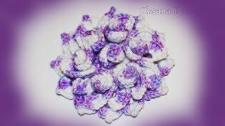 Декоративный цветок крючком. Мастер класс. DIY Bulk flower crochet fans(Мастер класс по вязанию объемного цветка крючком с завитушками. В видео присутствуют схемы вязания крючком..., 2016-09-27T05:27:07.000Z)