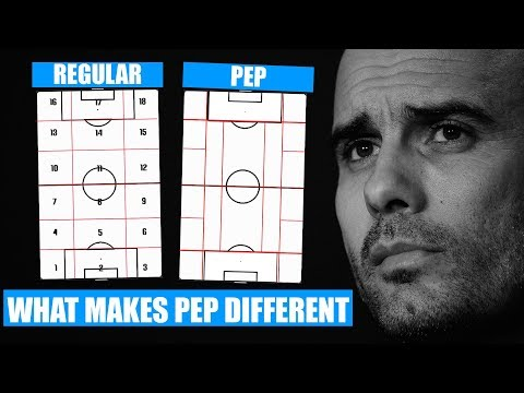 How Pep Sees Football Differently | What Separates Pep Guardiola | Pep Guardiola's 20 Zone System