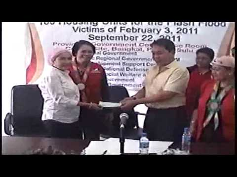 Turn over of 100 units Shelter Assistance in Sulu