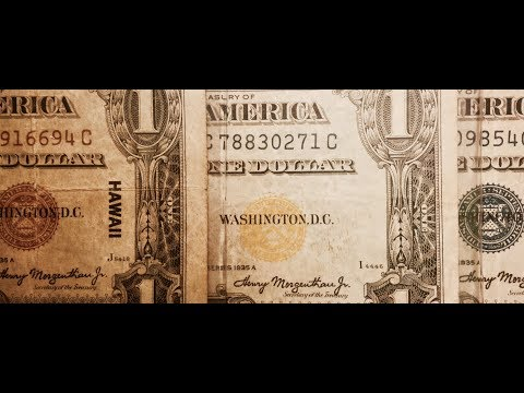 Rare Yellow, Brown, Blue Seal One Dollar Bills