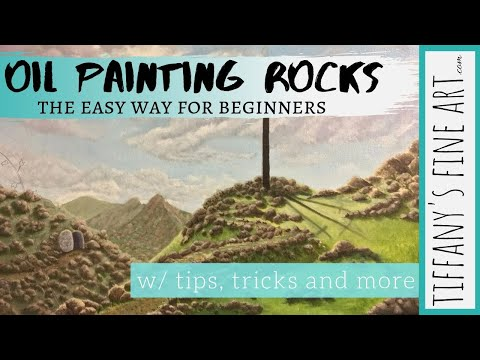 HOW TO PAINT ROCKS | TIPS FOR BEGINNERS | OIL PAINTING TUTORIAL