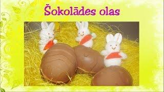 Šokolādes olas ar pildījumu. Video recepte. 50. sērija