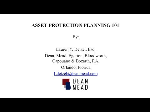 Asset Protection Planning 101