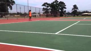 Family tennis king of the court