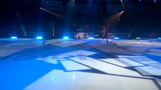 Ледовое шоу Ильи Авербуха в Новосибирске, выступление дуэта Полищук - Беседин