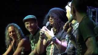 Kirk Hammett/Slash/Corey Taylor/John 5 talk Horror movies 4/11/15 (Part 1)
