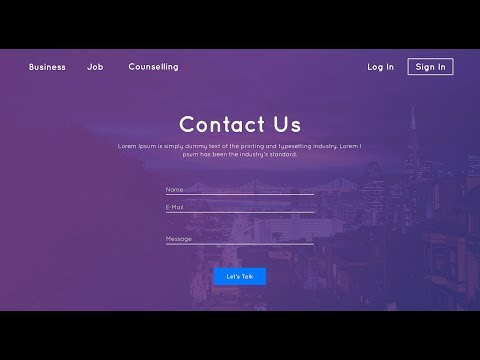 Contact Us Page Design   HTML & CSS