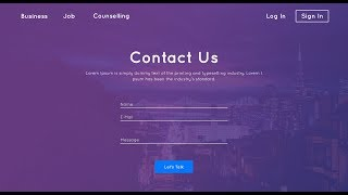 Contact Us Page Design | HTML & CSS