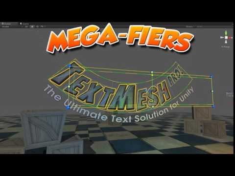 Text Mesh Pro and MegaFiers for deforming text