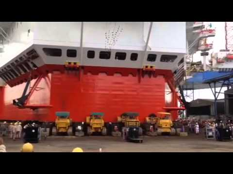 Ppl shipyard rig launching P2040