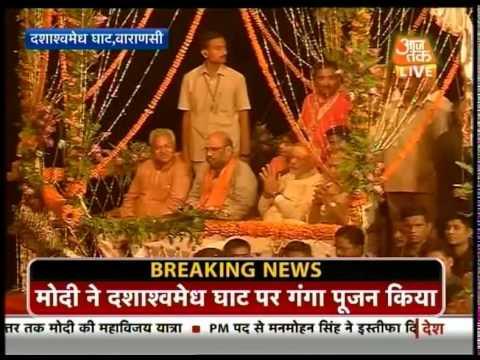 Modi heads for 'Ganga Aarti' in Varanasi