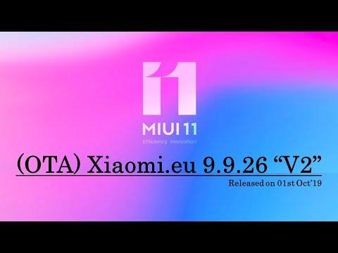 [OTA Update] Xiaomi.eu 9.9.26