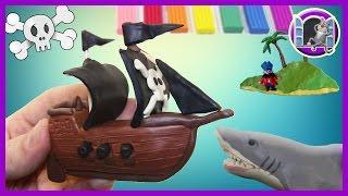 ПИРАТСКИЙ КОРАБЛЬ. Лепка из пластилина | Видео Лепка | CLAYMOTION. PIRATE SHIP
