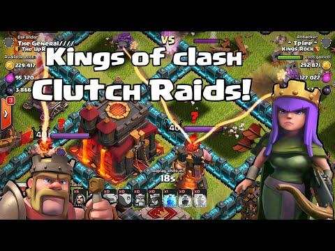 Clash of clans - CLUTCH RAIDS (Queen Ai fixed?)